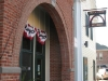 A new archway forms the entrance to Brick Arch Winery in West Branch, Iowa