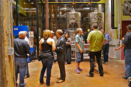 City Winery Grand Opening, special guests tour winery facilities.