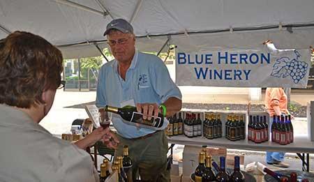 Gary Daury owner of Blue Heron Winery