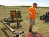 "Todd Robbins explains equipment to ""hill up\"" and remove dirt"