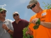 Todd Robbins, vineyard manger, explains grape budding
