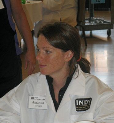 Wine judge Amanda Stewart of Purdue University