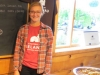 Lindsey at Chateau deLeelanau serves pork with carmelized onions paired with the winery\'s 2011 Pinot Grigio
