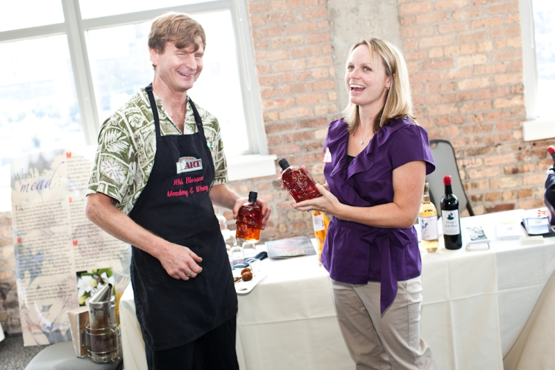 Greg Fisher, Wild Blossom Meadery, Chicago, and Megan Pressnall of the Illinois Grape Growers and VIntners Association