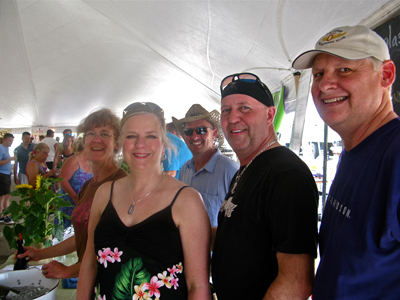 Kathy, Karen, Mike de Schaaf, Tom and Chuck, Hickory Creek Winery