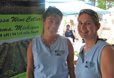 Elizabeth Peterson and Greta Munger, Contessa Wine Cellars