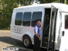 Allen Zelmer of Fruitful Vine Tours makes sure his customers are safely on the bus.  Tours cover four wineries in the AVA on Saturdays for $89 per customer.