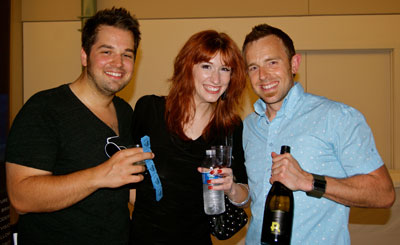 Nate Knaebel and Shari Mocheit with 2 Lads Winery's Chris Baldyga