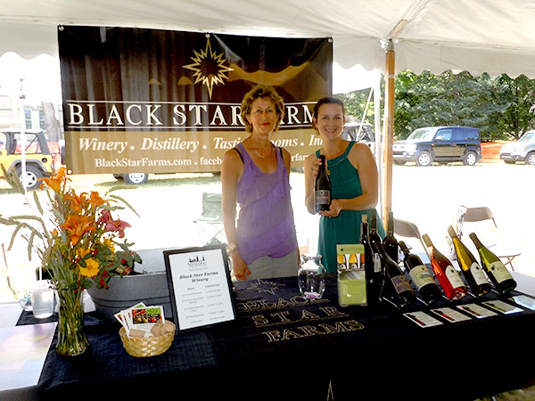 Vickie Green, left, and Coryn Briggs of Blackstar Farms, Suttons Bay, MI