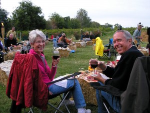 Enjoying Augusta's Harvest Festival picnic