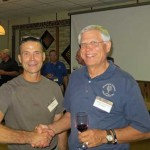 Dr. Dean Volenberg and George Scovronski of the Wisconsin Vintners Association