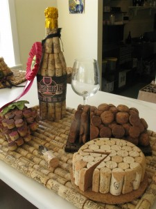 The winner of the Henke Winery cork sculpture contest