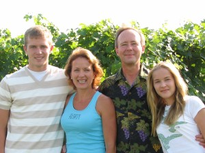 The Reynolds family of Somerset Ridge Winery: From left: Alex, Cindy, Dennis and Holly. (photo courtesy of the winery)