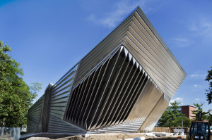 The new Broad Art Museum at Michigan State University is a short distance from the Michigan Grape and Wine Conference