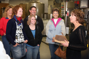 Carlos Creek Winery owner Tami Bredeson (right) thinks consumers will accept Petite Pearl