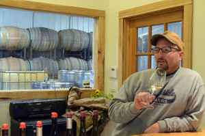 Michael de Schaff, winemaker,  Hickory Creek Winery