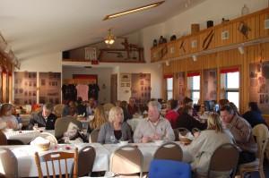 OakGlenn customers enjoy Cinncinatti chili with their wine.