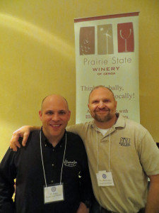 JT Anesi and Rick Mamoser of Prairie State Winery
