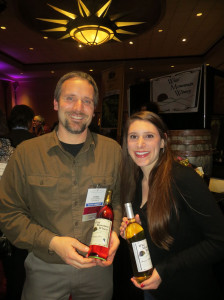 Irv Geary of Wild Mountain Winery and Amy Abt of Minnesota Farm Winery Association