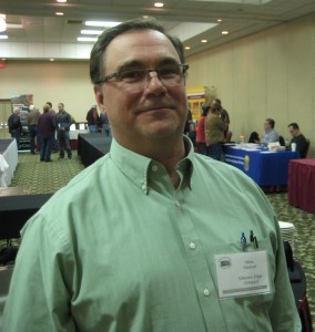 Mike Steinert, owner of Glacier's Edge Vineyard, at the Kansas winemakers conference