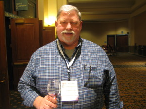 Marc Rowe, owner of Rowe Ridge Winery at the Midwest wine conference