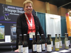 Shannon Gunier of North Coast Winegrape Brokers based in California. Shannon says Midwest demand for Californian bulk wine from has grown considerably in recent  years.