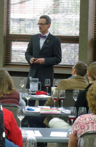 Ron Edwards, Master Sommelier, Charlevoix presents sensory analysis at the 2013 Michigan Wine Conference