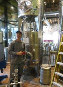 Robert Kowal of City Winery with his tanks and keg
