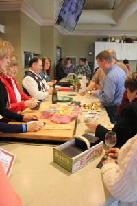 The crowd worked their way through sampling 4 different wines from Grafton Winery paired with a variety of appetizers.