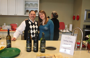 Grafton Winery's Chef A.J. Giacalone and Erin Prott, Coordinator of Sales, Marketing and Events.