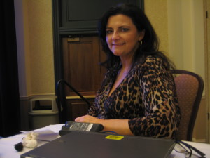 """Danene Beedle after her """"Let's Get Social"""" talk at the Midwest Wine Conference"""