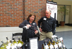 Deborah and David Burgdorf of Burgdorf's Winery pour their new release '11 Chardonnay.  Burgdorf's also introduced a new '11 Chancellor at the Showcase
