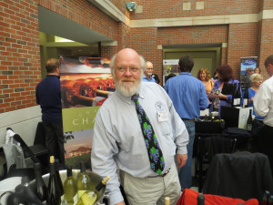 Mark Johnson of Chateau Chantal, the first winery to plant Pinot Noir in Northern Michigan. At the Showcase, Johnson poured their estate Pinot Gris, Pinot Blanc and Pinot Noir