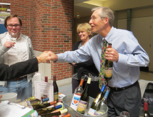 Dan and Lucie Matthies of Chateau Fontaine in Leelanau County.  Top honors for a Midwest winery at the Finger Lakes Wine Competition went to Chateau Fontaine for its Semi-Sweet Riesling which won the John Rose Award for Best Riesling.