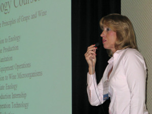 Michelle Norgren,  VESTA, speaking at the Illinois Wine Conference