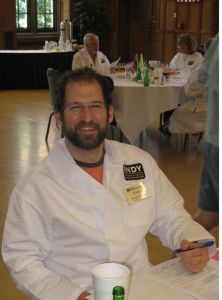 Paul Gospararvdlfj as a judge at the 2012 Indy Internationa Wine Competition