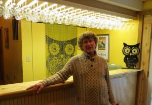 Brad Genung of Owl Creek Vineyard in the winery's new tasting room.