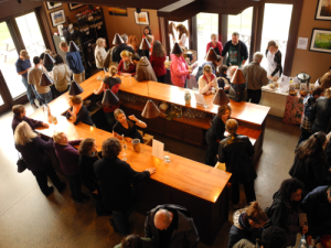 "The tasting room at Shelburne Vineyard in Vermont.  Shelburne won ""Best of Show"" for their '10 Marquette Reserve at the 2012 Cold Climate Wine Competition."