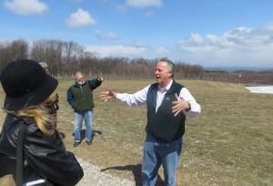 Paul Hamelin of Verterra Winery explains vineyard site selection in Leelanau County
