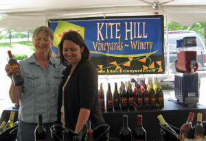 Barb Bush and Tracy Orgo of Kite Hill Vineyards at the recent Ottawa 2 Rivers Fest