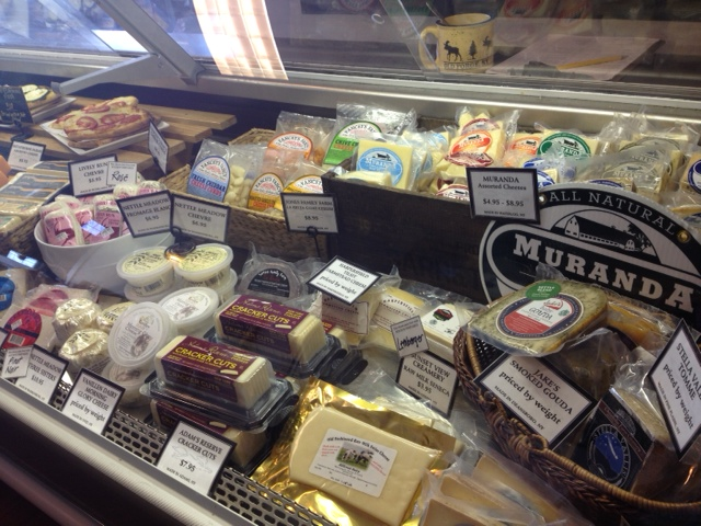 Fox Run Vineyards in the Finger Lakes in New York, offers local artisan cheeses in their deli.