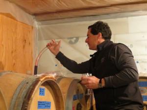 Winemaker Steve  of Parley Lake Winery in    MN won