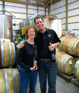 Jim and   Pfieffer of Turtle Run Winery in Corydon, Indana, makers of an acclained dry Traminette.