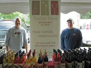 Rick Mamoser and J.T Aresi Of Prairie State Winery