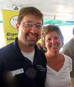 Aaaron Harr and Susan Puckett of Fenn Valley Winery