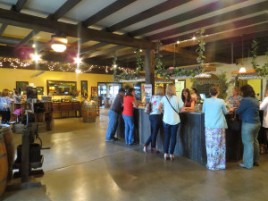 The original tasting room at Lemon Creek Winery