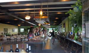 The new tasting bar and room at Lemon Creek Winery