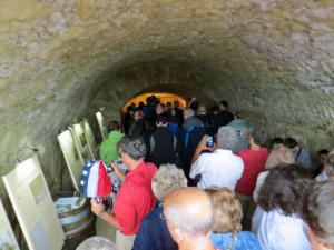 Visitors to the the Wollersheim wine cave can walk 55 feet into the side of the hill in which it was dug.