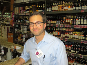 Anthony Minne,  wine and spirits team leader, at the new Plum Market in Chicago
