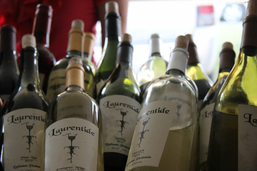 The popular Leelanau County winery newcomer, Laurentide, was a festival hit and just one of 30 wineries pouring samples; one of its claims to fame is a win at the prestigious Riesling Challenge at the International Eastern Wine Competition.